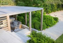 Outdoor rooms and summer houses / Outdoor rooms and summer houses in gardens and terraces designed by Charlotte Rowe Garden Design