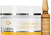 Power Pure Vit C Line / Linia zawiera w 100% aktywną formę witaminy C, ekstrakt z jedwabiu i żeń-szenia. Linia odpowiednia dla wszystkich, którzy chcą poprawić koloryt cery, rozświetlić ją, zredukować zmarszczki. Regularnie stosowane kosmetyki z linii Power Pure Vit C rozjaśnią przebarwienia, poprawią koloryt skóry i zredukują zmarszczki. Witamina C zawarta w kosmetykach ma również silne działanie antyoksydacyjne - zwalcza wolne rodniki, które przyspieszają starzenie się naszej skóry.