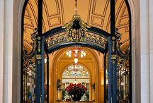 大型铁艺入户门适合酒店商业场所
