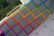 Rainbow Granny Square Blankets
