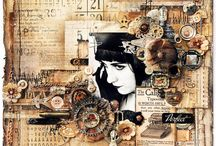 mixed media scrapbooking pages