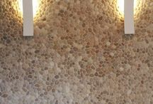 Wall Tile Ideas - Pebble Tile and Stone Tile Walls