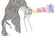 Рисунок. Фотограф-девушка