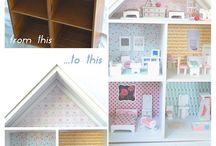 Domečky a nábytek pro pannenky