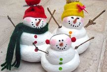 Snowmen of all kinds / All different kinds of snowmen, real or fun food snowmen and decorations.