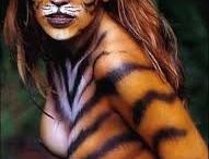 Body Art Big Cat to Photo Project / BodyArt turned to amazing photos.