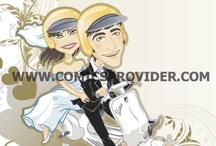 caricature a colori in vettoriale / Caricature personalizzate adatte ad ogni ricorrenza! Info : valentina@comicsprovider.com