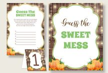 Baby Shower Products in Autumn Theme, Invitations, Games, Decorations And More / Hi, thank you for visiting this beautiful baby shower board with products in Autumn theme. Here, you'll find invitations, games and activities, decorations and more with over 60 products in this theme.