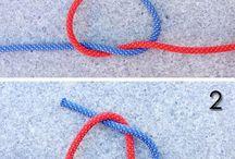 Camping rope ties