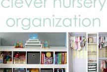 Nursery Organization Ideas / Get inspired with nursery organization ideas to keep your child's room clean and organized.
