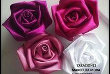 Rosas en tela