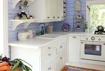Small beach house kitchen