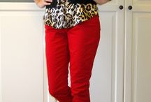 red pant style