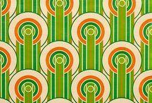 TISSU vintage/rétro ambiance vert!