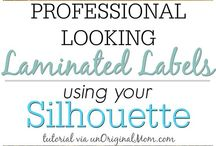 Labels with Cricut or silhouette