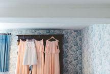 Bridal Preparation / Hair, Makeup, Dress, Bridesmaids, Bubbly.