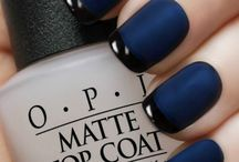 Blue and navy nails