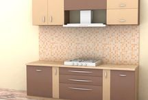 straight-Line-Kitchen / Straight Line Kitchen in Chennai -A single straight line of arrangement aligned to one wall though this is not an optimal option, it is the best solution to your kitchen