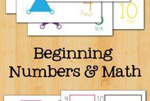 čísla/numbers activities for preschooler