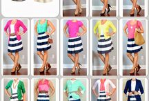 falda corta rallada y Camperas de color