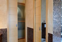 Bathroom Decorating Ideas / Check out a few examples of how to decorate your bathroom with a pocket door.