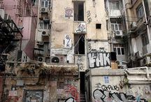 Dystopia / Architecture  Slums   Public housing  Apartments  Vertical slums  Undesirable  Over Populated