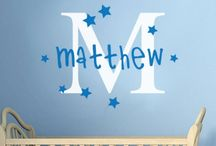 Personalised Name Vinyl Decals / Here are some of our Personalised Name Vinyl Decals with names and monograms too!