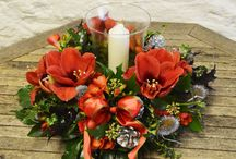 Christmas Floral Arrangements & Wreaths / From festive table centres to fresh wreaths I can provide everything you need to decorate your home this Christmas.