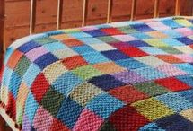 Knit charity blankets