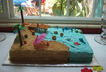 Hawaiian party ideas / Cakes etc