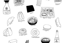 Recipies and food illustrations