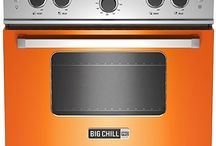 "Big Chill 30"" Pro Range / The new Big Chill Pro Range is a modern appliance both inside and out, with clean lines and bold colors.  Cooking like a pro is easy with professional level power and versatility, with up to 18,000 BTU burners.  The full motion grates let you slide pots and pans from front to rear burners without lifting them.  The Pro Range has the largest oven capacity available on a 30"" range and will accommodate a commercial size baking sheet.  Choose from a range of standard colors or 200 custom colors / by Big Chill"
