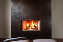 modern metal fireplace surrounds