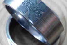 Nebraska Corhuskers - Husker Wedding Band / Having a Husker Wedding? Are you a Nebraska Cornhuskers fanatic? Share you Huskers wedding photos with us at www.1CAMO.com