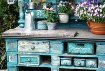 Potting benches and sheds