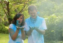 Gender Reveal Photo Shoot ♥ / Holi Powder, Blindfolds, and lots of fun to reveal the gender of our first child!  ♥