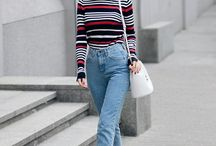 Mom jean outfit