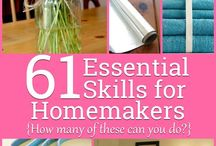 Homesteading and Homemaking tips / Tips everyone should know to make your home a better place and impress your friends and mother-in-law :)