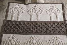 Coperte lana maglia e uncinetto