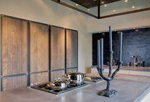 Keuken hout staal