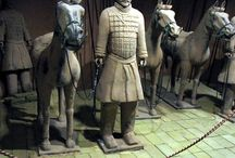 Qin Dynasty Costumes / Qin Dynasty. 221-206 BC. The Qin Dynasty is the beginning of what is referred to as the Imperial Period of China, which would last up to the Qing Dynasty (1644-1912 ) The new emperor of the Qin would rule for 12 years, during which he managed to gain control over the core of Han Chinese homeland as well as enforce a highly centralized Legalist government.  The new Qin capital is located in Xianyang.