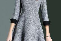 vestidos invierno-otoño