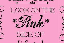 it's all about the Sparkle of PINK / Life for a girl is always complete when PINK is surrounding us