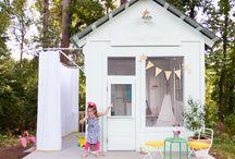 Girls outdoor playhouse ideas