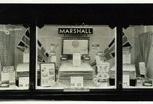 Vintage Window Displays / Marshall Mattress Window Displays from the 1910s through 1930s. The company had many window display contests across North America with retailers. For a number of years, Marshall Mattress ran Better Bedding Week, which ran as part of company promotions.   Marshall Mattress currently produces a series of archival postcards. If interested in learning more, email infoATmarshallmattressDOTCOM  More photos to be added on an ongoing basis.