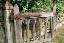 Oude tuin poorten