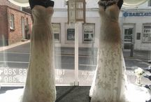 Window Display Ideas! / A selection of images of our window displays giving ideas and suggestions to compliment our bridal gowns.