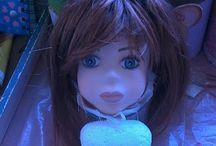 Muñecas,tutorial cabeza tallada, goma eva