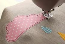 Sewing on appliques