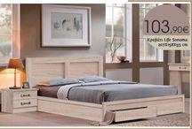Κρεβάτι Life Sonoma EM3634,2 207X158X93 cm